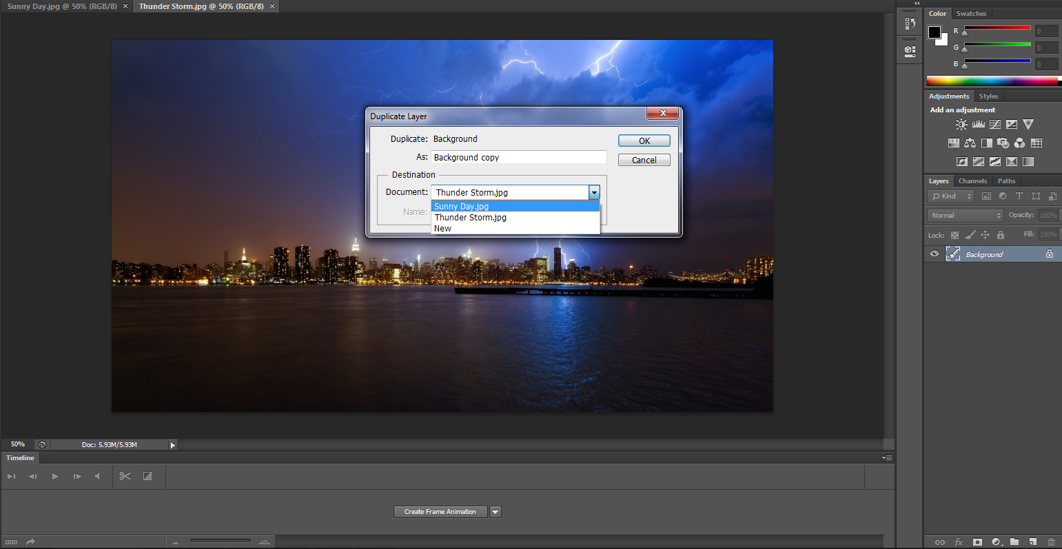 Adobe Photoshop Tutorial on How to change the image background with layer mask